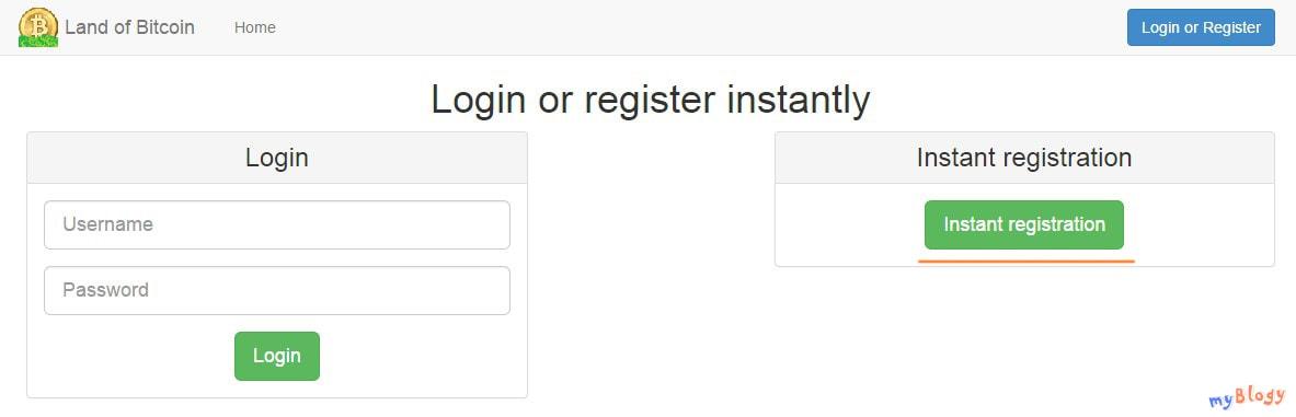 Биткоин ротатор Land of Bitcoin. Регистрация.