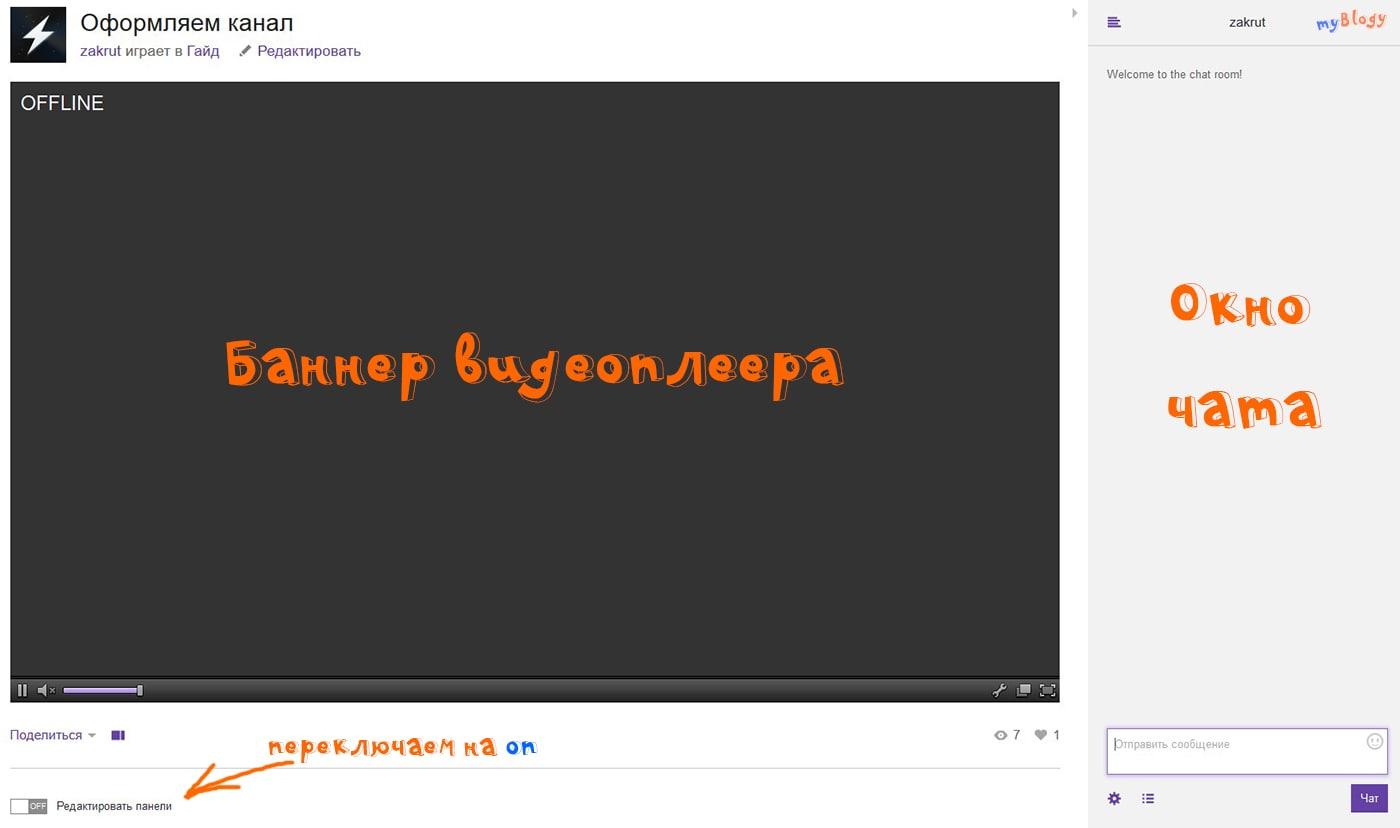 Оформляем канал на Twitch.tv