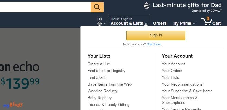 Регистрация аккаунта на Амазоне