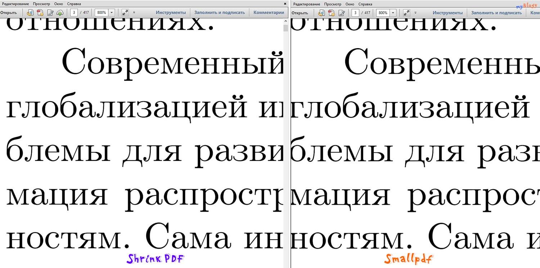Сравнение качества текста