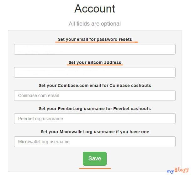 Биткоин ротатор Land of Bitcoin. Настройки.