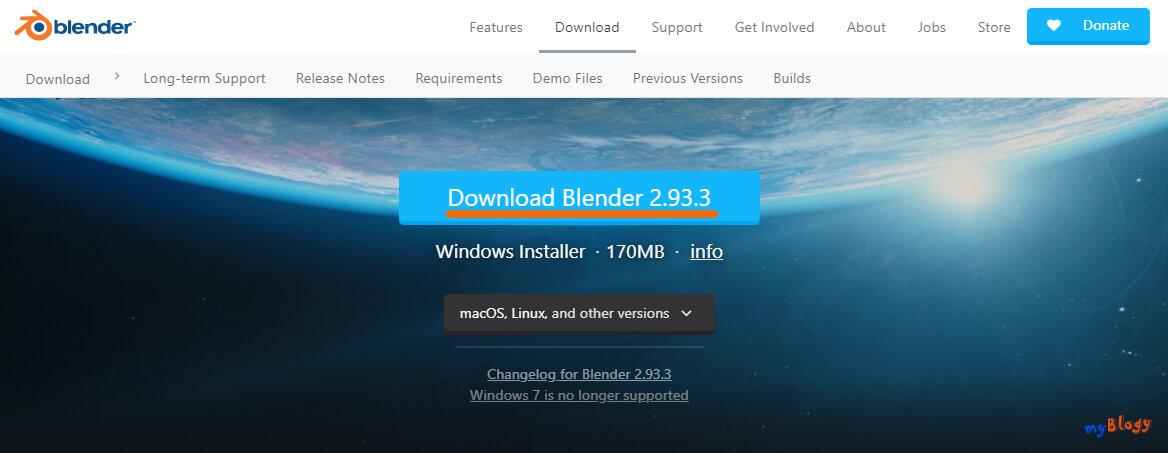 Официальный сайт Blender