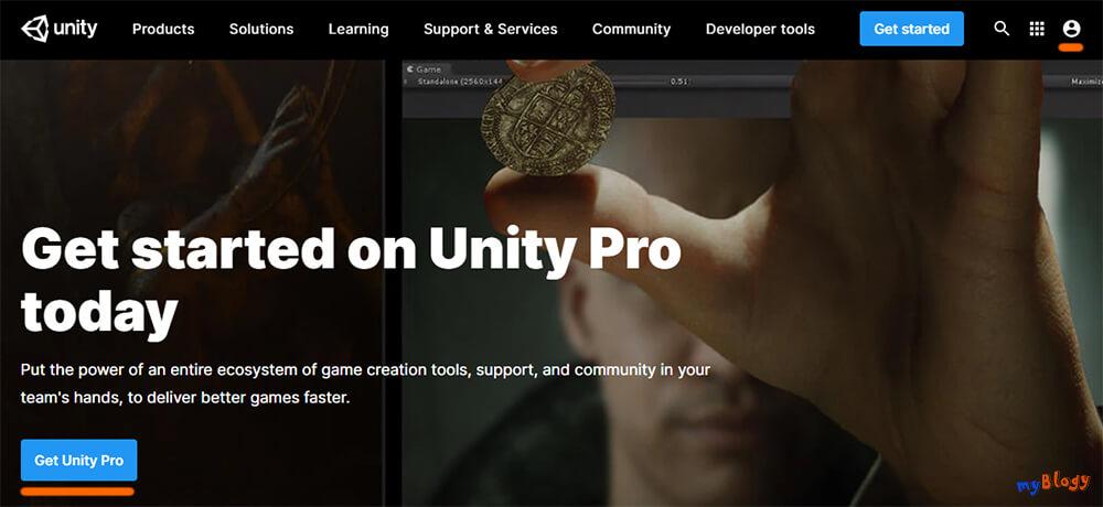 Официальный сайт Unity