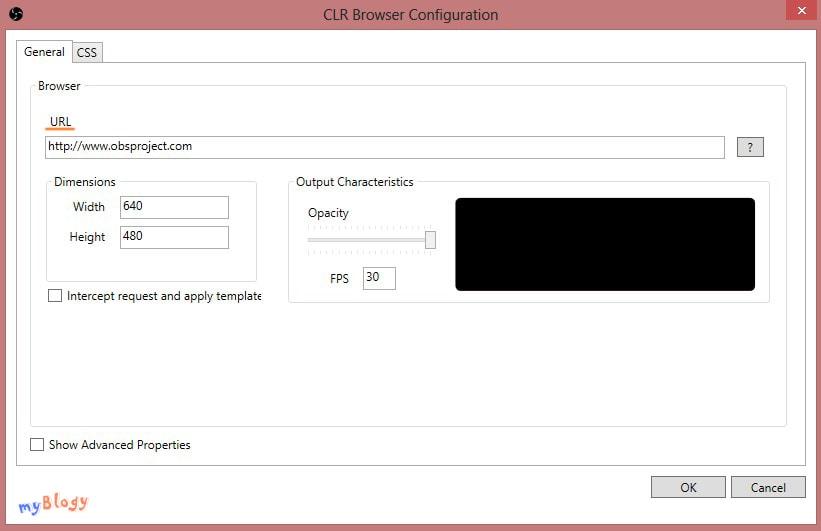 Параметры CLR Browser