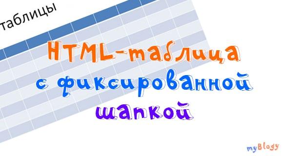 Таблица с фиксированной шапкой на HTML при помощи CSS при скроллинге страницы